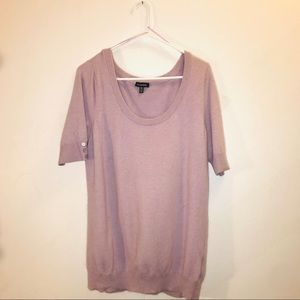 Lavender short sleeve Le Chateau Sweater
